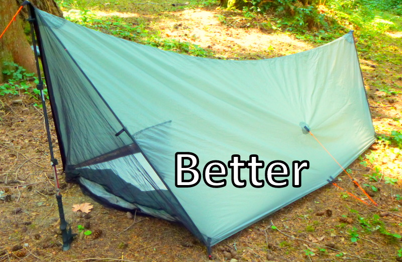 Now I have my go-to solo tent with 26 sq. ft. of floor space good bug screening an integrated Tyvek ground cloth stakes and stuff ... & tyvek |